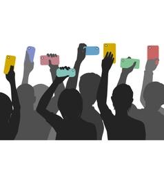 Citizen smartphone journalism vector image