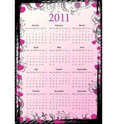 European grungy calendar 2011 vector image vector image
