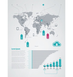 infographics elements world map vector image vector image
