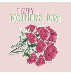 Mothers day flower vector image vector image