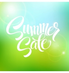 Summer Sale blurred background vector image