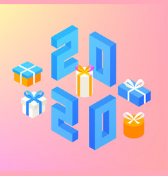 2020 new year presents vector image