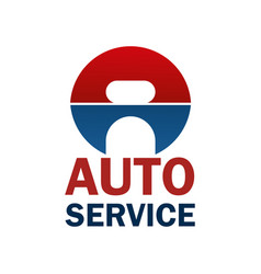 a letter icon for car auto service vector image