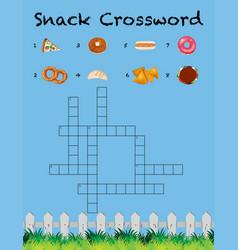 A snack crossword template vector