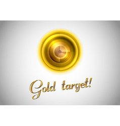 abstract center point gold vector image