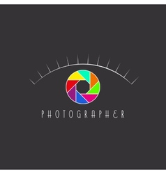 Abstract eye of the photographer colorful vector image