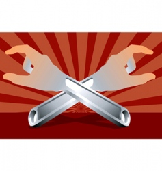 adjustable spanners vector image