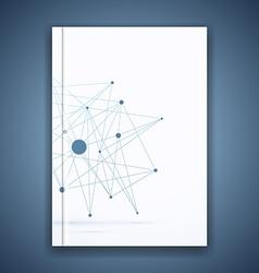 Atom molecule connection idea folder template vector image