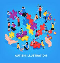 autism isometric vector image