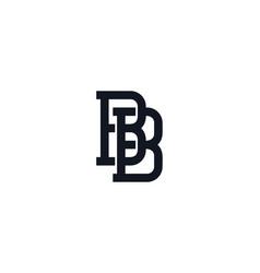 B monogram letter logo icon design vector