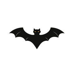 Bat of icon the helloween evil blood vector