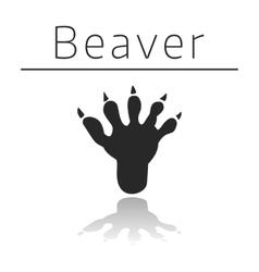 Beaver animal track vector