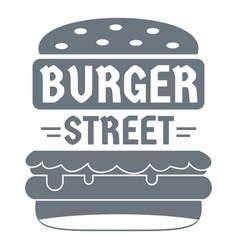 big street burger logo simple gray style vector image