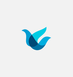 Bird logo design abstract modern colorful style vector