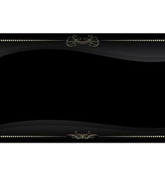 black frame with golden pattern vector image