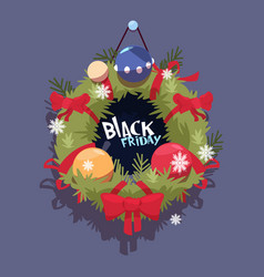 black friday christmas and happy new year vector image