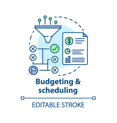 Budgeting scheduling concept icon business vector