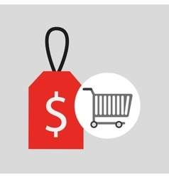 buying cart sale money design vector image