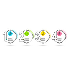 calculator target share and copyright chat icons vector image