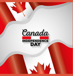 Canada independence day flags vector