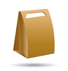 cardboard bag isolated on white background vector image