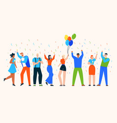 character people celebrate vector image