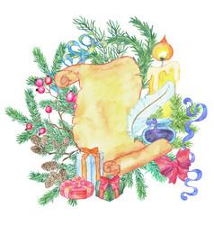 christmas and new year holiday emblem vector image