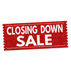 closing down sale grunge rubber stamp vector image