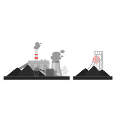 coal plant vector image
