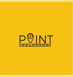 coin point logo location of money logotype vector image