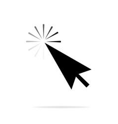 computer mouse click cursor gray arrow icon on a vector image