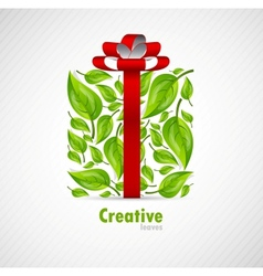 Concept box with leaves vector image