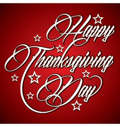 Creative design for Happy Thanksgiving Day vector