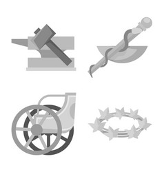 Design ancient and culture logo vector