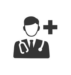 Doctor consultant icon vector