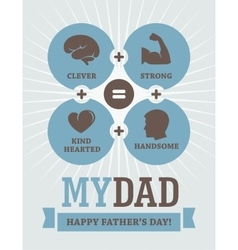 Fathers Day creative design vector