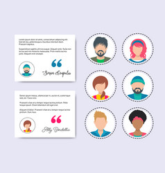feedback chat with male and female avatars vector image