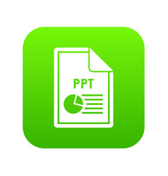 File ppt icon digital green vector