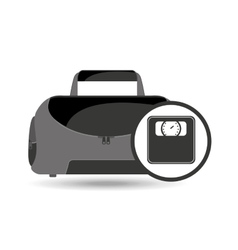 fitness sport bag icon weight scale vector image