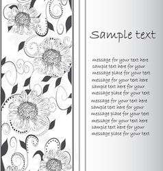 Floral side border vector
