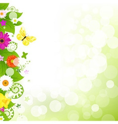 Flower With Grass And Flowers vector