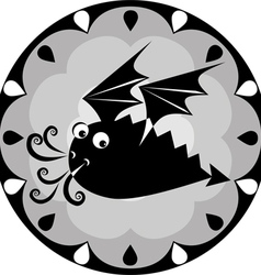 Funny Chinese horoscope dragon vector