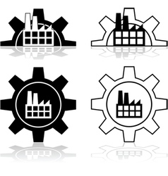 gear and factory vector image