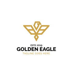 Gold eagle logo design inspiration vector