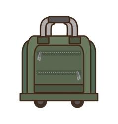 green bag briefcase traveler business vacation vector image