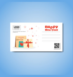 Happy new year template greeting card with place vector