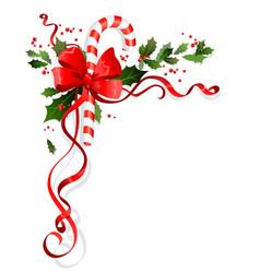 holiday winterl decor vector image