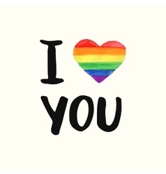 I love You Inspirational Gay Pride poster vector