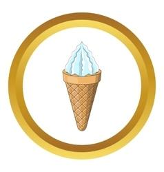 Ice cream cone icon vector