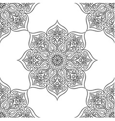 indian ornamental seamless pattern ethnic folk vector image